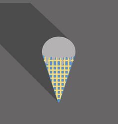 ice cream in waffle cone icon vector image