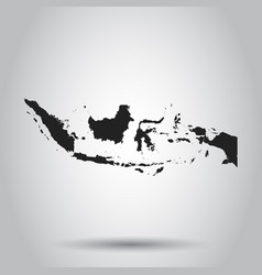 Indonesia map black icon on white background vector