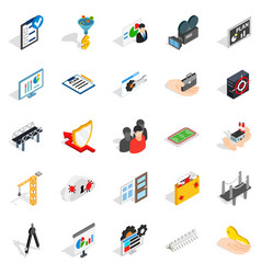 interface icons set isometric style vector image