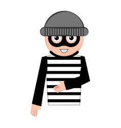 Isolated thief cartoon vector