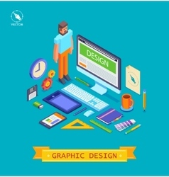 isometric icons set of vector image
