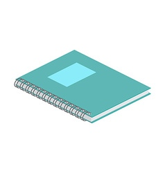 Isometric notebook on white background For web vector