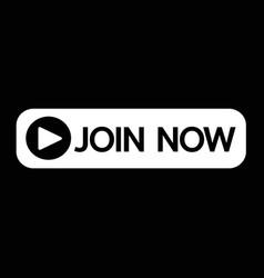 Join now button icon design vector