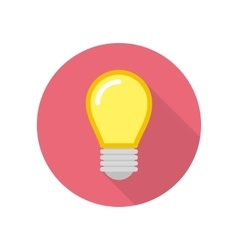 Lightbulb icon with shadow vector
