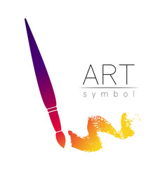 modern logo sign of drawing art paint brush vector image