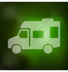 Motorhome icon on blurred background vector