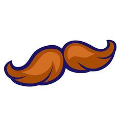 Mustache in cartoon style cute vector