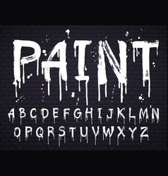 paint dripping font for latin alphabet vector image