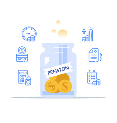 Pension fund management savings account vector