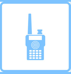 Portable radio icon vector