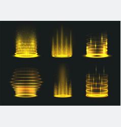 Portal yellow light effect set vector