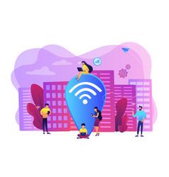 Public wi-fi hotspot concept vector