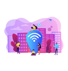 public wi-fi hotspot concept vector image
