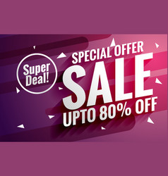 purple sale banner design template for business vector image