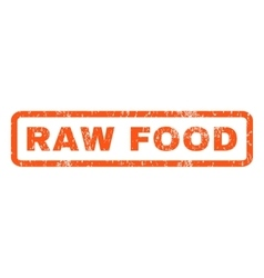 Raw Food Rubber Stamp vector image