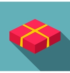 Red box icon flat style vector