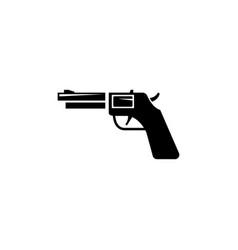 Revolver weapon gun western handgun flat icon vector