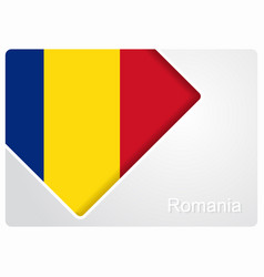 Romanian flag design background vector