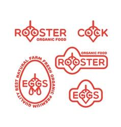 rooster logo set vector image