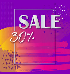 Sale banner template with colorful vector