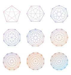 set geometric shapes vector image