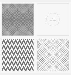 set-pattern-gray-angle vector image