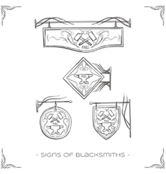 Signs of Blacksmiths vector image