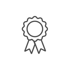 silhouette award icon isolated on white background vector image