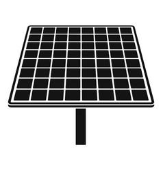 Solar brand panel icon simple style vector