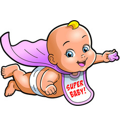 Super baby cartoon clipart vector