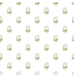 Teabag pattern cartoon style vector image