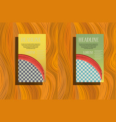 Template for advertising brochure with business vector