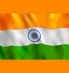 tricolor banner with indian flag for 26th january vector image