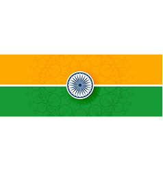 Tricolor indian flag in flat style design vector