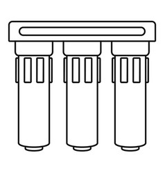 Triple water filtration icon outline style vector
