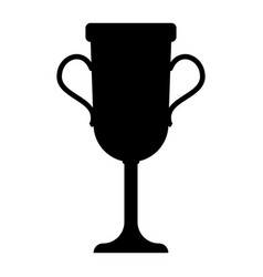 trophy cup the black color icon vector image