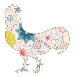 Vintage cock vector