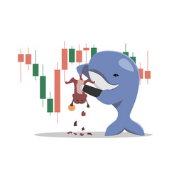 whales shear hamsters in crypto market vector image