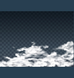 With transparent white clouds vector