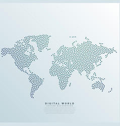 World map made with dots vector