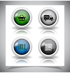Abstract glass buttons eps10 file vector