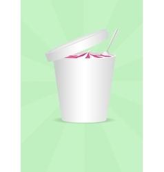 Ice cream Plastic Container vector image