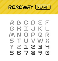 Roadway font Drive way path style letters set vector image vector image