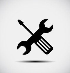 Wrench and screwdriver - repair icon vector image