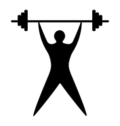 Young man athlete raises the bar silhouette vector image vector image