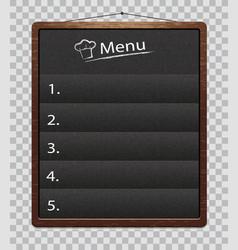 chalkboard for restaurant food menumenu boards vector image