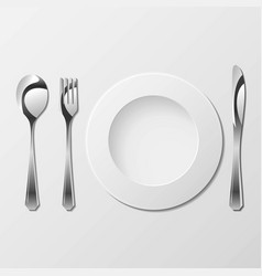 cutlery with gradients vector image