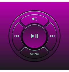 interface design elements for music player icons vector image