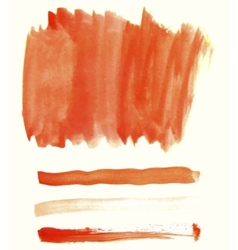 Orange watercolor elements for design vector