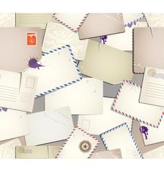 Vintage postcards vector image vector image